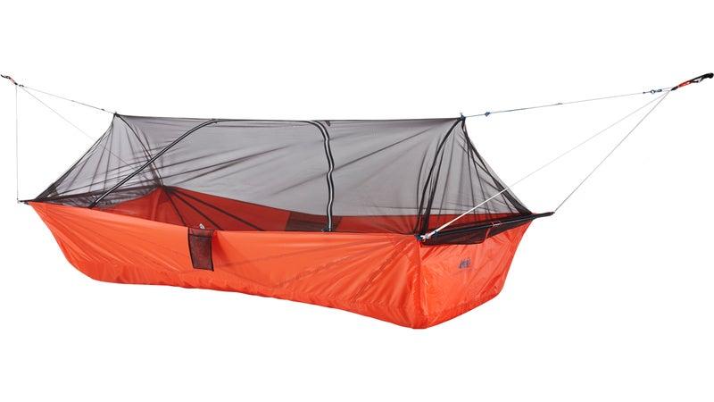 REI Quarter Dome Air hammock tent.