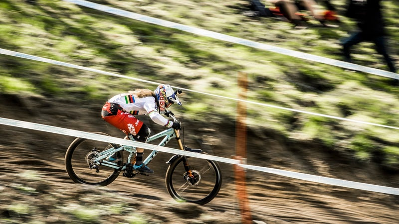 Dominating the downhill.