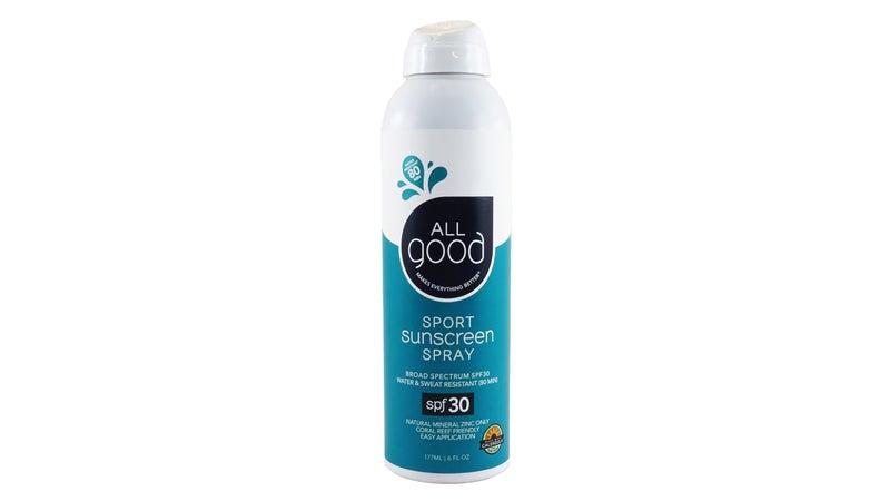 All Good SPF 30 Sport Sunscreen spray.