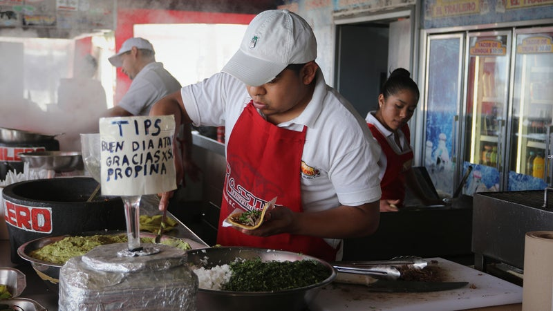 Is the food in Baja delicious? Yes. Is there a chance you might get sick by eating it? Yes. Is it worth the risk? Totally.