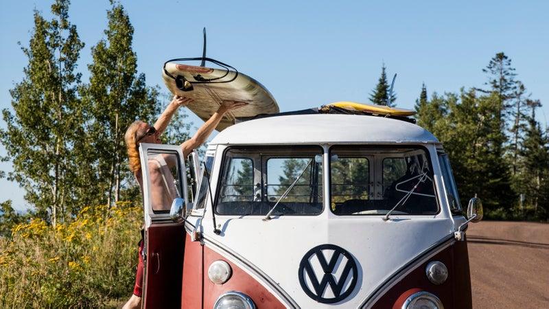 Wilkie's Volkswagen bus.
