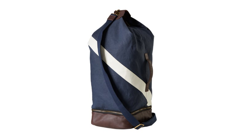 Tracksmith Mission Top Loader duffel.