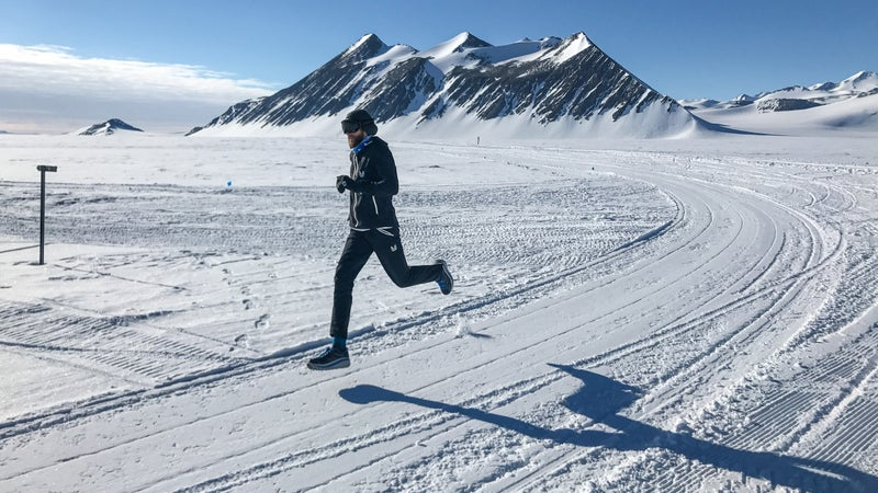 Wardian was one of 30 competitors in the World Marathon Challenge, in which one race took place in Antarctica.