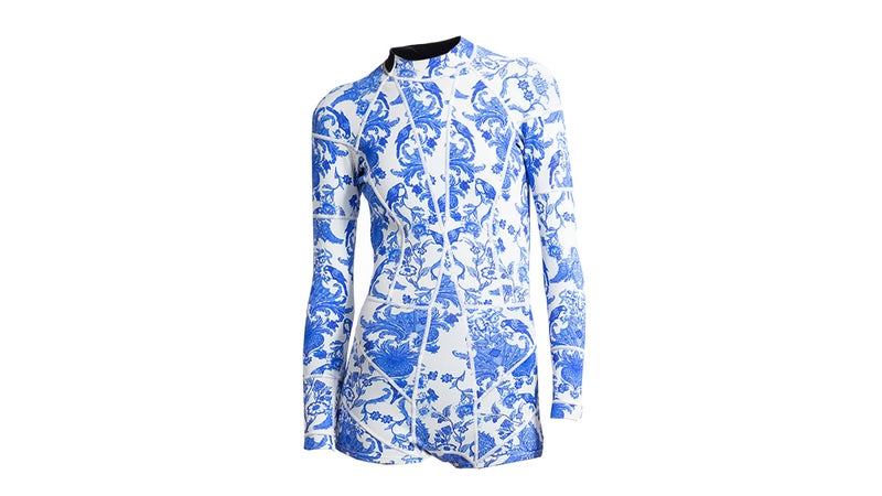 Cynthia Rowley Blue China Print Wetsuit