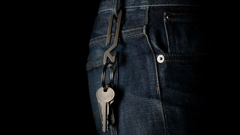 Quickly and easily attach your keys to a belt loop.