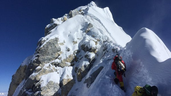 A photo of the Hillary Step, from climber Kenton Cool's Instagram, taken on May 20, 2016.