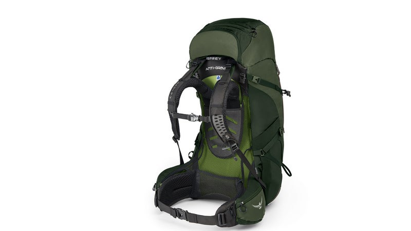 Osprey's new Aether and Ariel packs combine a plastic frame sheet, with metal stays, a mesh suspension, and a nicely rigid belt. It's a perfect combination for carrying weight comfortably.