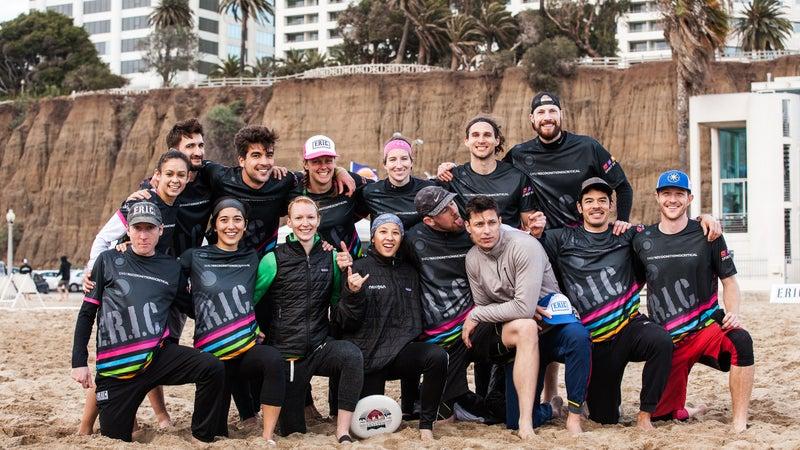 Team E.R.I.C. at the 2017 Lei-Out beach tournament in Santa Monica