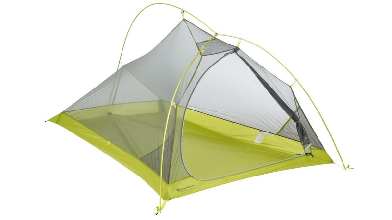 In constrast, this Big Agnes Fly Creek Platinum 2's body drops dramatically from its lower head height, to the incredibly tight foot. And, the single door makes it impossible for one person to enter or exit while another sleeps.