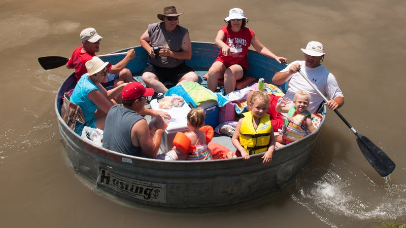 Getting tanked on the Middle Loop River, Nebraska