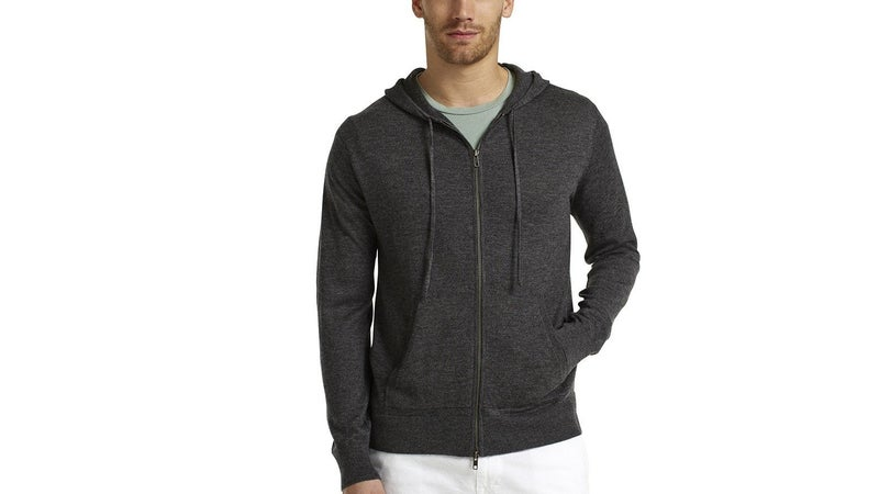 A cashmere hoody might sound ridiculous, but the ultrasoft wool is also ultralight, and ultrawarm, making this thing very packable and extremely comfortable.