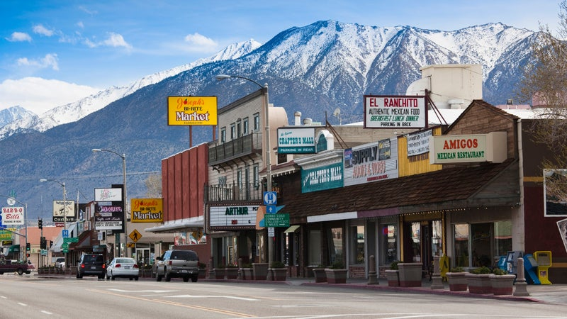 Bishop, California's Main Street, Rt. 395.