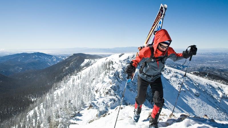 Backcountry skiing near Santa Fe, New Mexico.