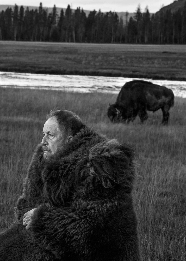 Larry (and friend) on Fountain Flats, Yellowstone National Park.
