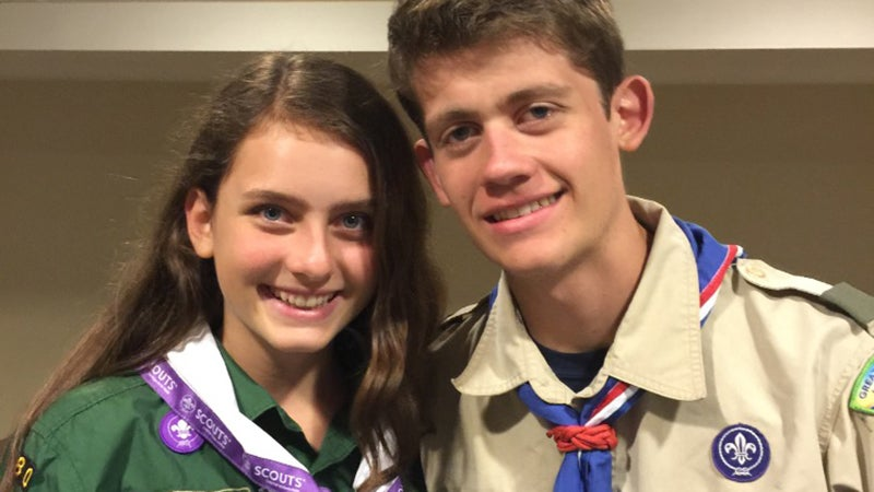 Sydney and her brother Bryan, who's an Eagle Scout.