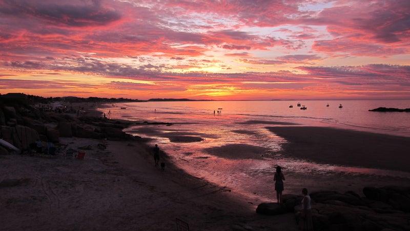 Summer sunset at Wingaersheek Beach.