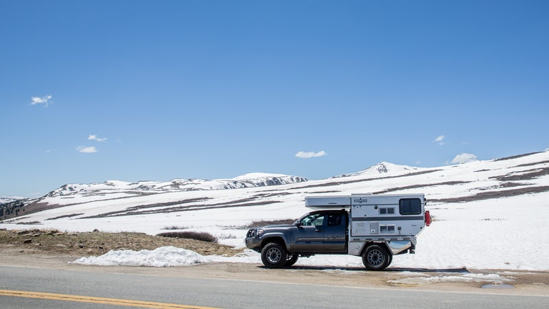 On top of Independence Pass outside Aspen, Colorado.