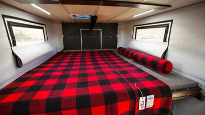 The cab over bed gives more than ample space for proverbial log-sawing.