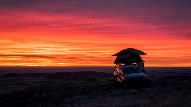 Sunrise while camping at the Pawnee National Grasslands.
