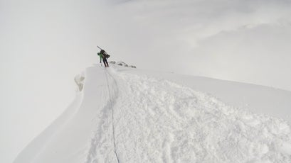 Lucy Westlake mountaineering Denali between base camp at 7,200 feet and high camp at 17,200 feet, from May 30 to June 18, 2017.