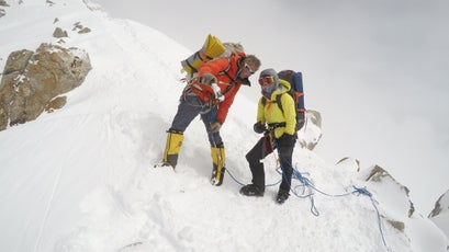 Wesley Bunch, from Alaska Mountaineering School, was the lead guide on Lucy's trip to Denali.
