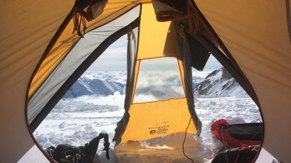 A view from Lucy's tent on Denali.