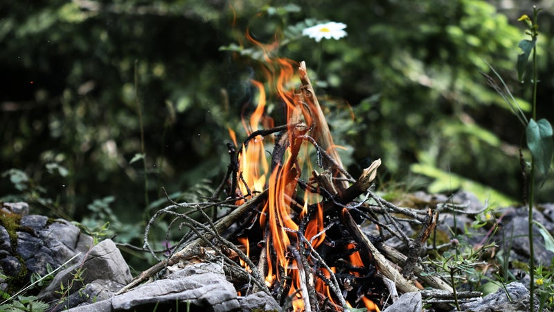 A fire requires oxygen, heat, and fuel. Supplying those three things it the key to starting one, and the key to keeping one going. And they all exist in abundance.