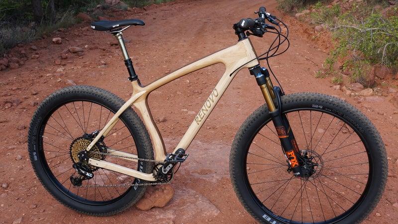 One of Renovo's wooden mountain bike models.