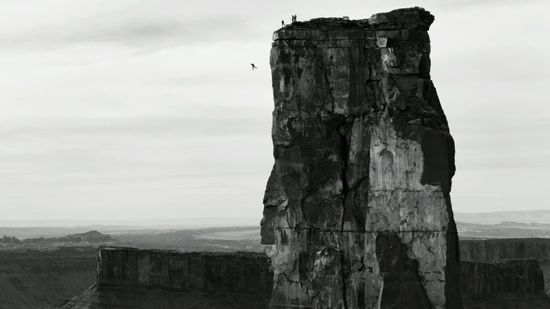 This photo of Michael Tomchek BASE jumping in Castle Valley, Utah was a finalist in Red Bull's 2013 Illume competition.
