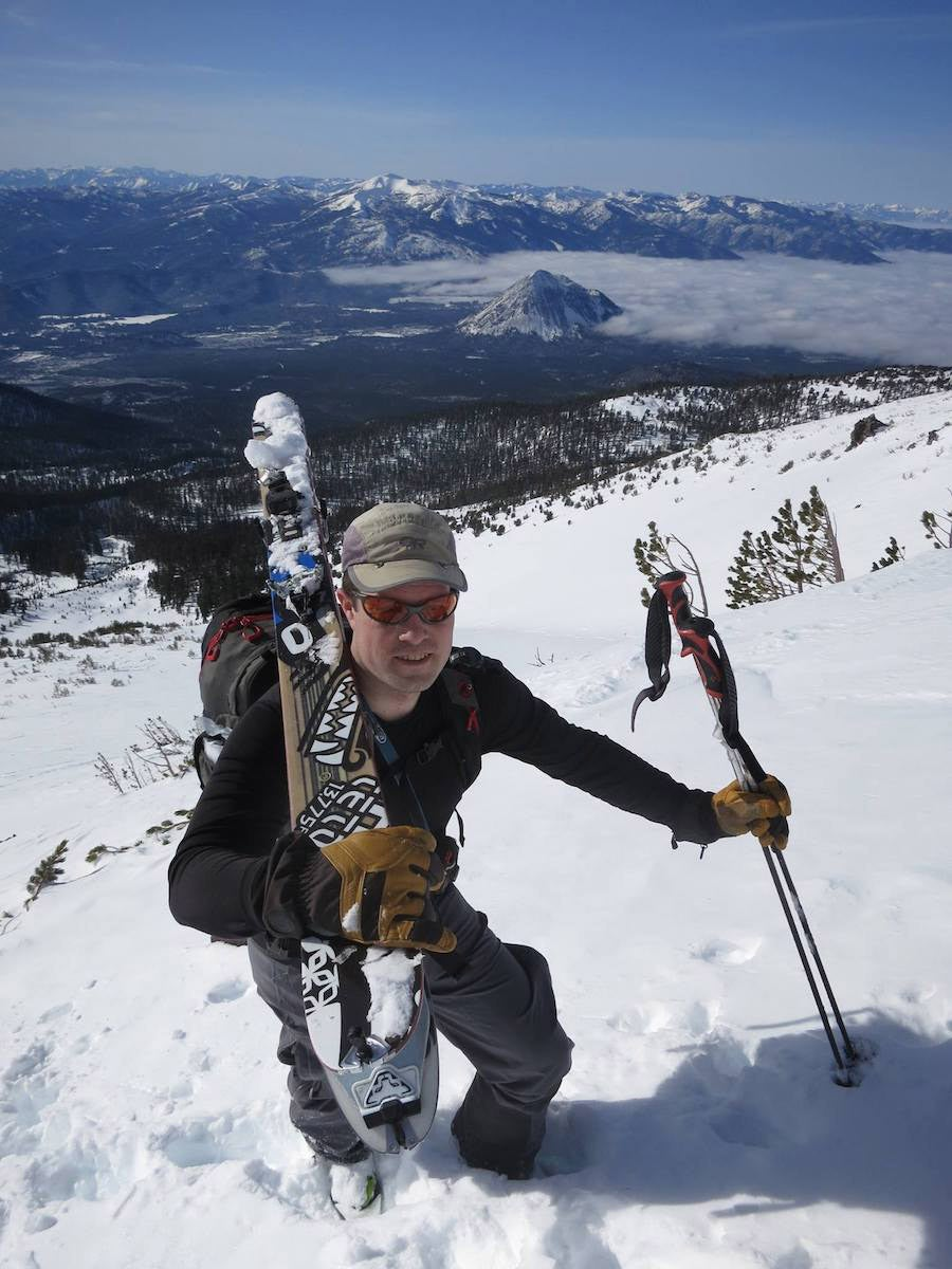 Jacobs climbs Mt. Shasta. The software developer is an active backcountry skier, and volunteers for his local search and rescue unit.