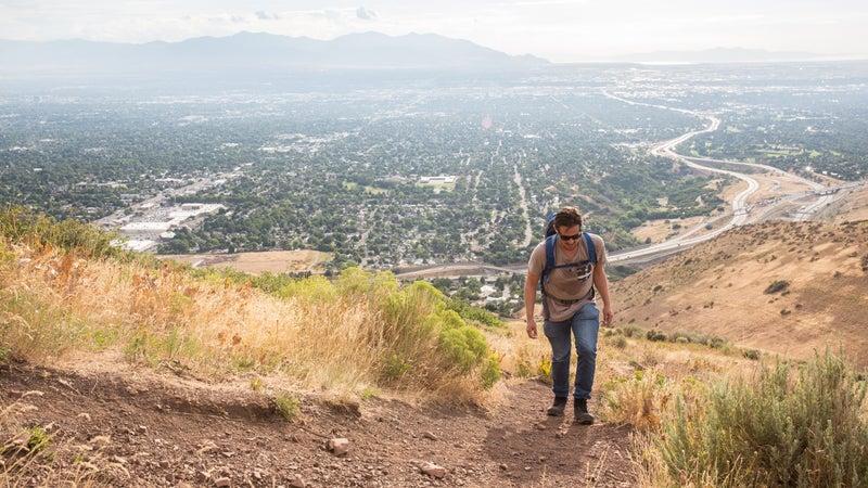 Hiking the foothills of Salt Lake City.