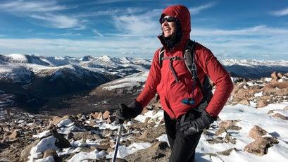 Atop the summit of Mt. Bierstadt.