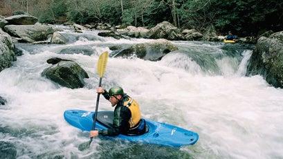 Kayaking in Great Smoky Mountain National Park.