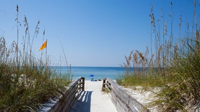 The beaches of St. Joseph Peninsula State Park offer uncrowded white sand views.