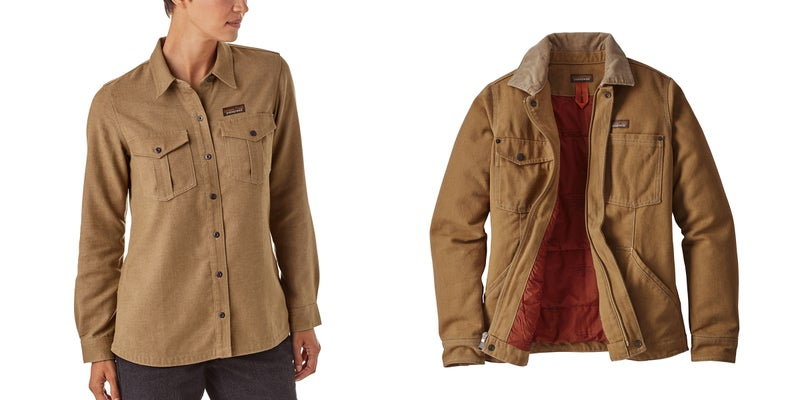 The women's Farrier Shirt ($89) and Barn Coat ($199) are both made from the Iron Forge Hemp Canvas, and should be as practical as they are comfortable.