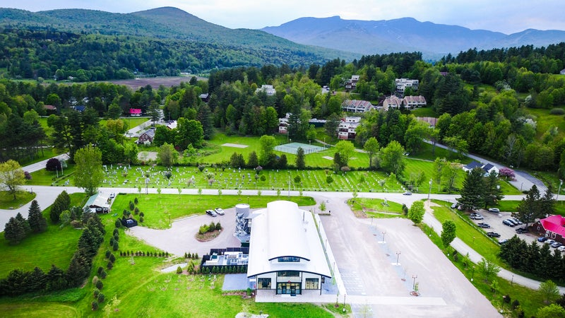 The expanded Alchemist brewery nestled in the mountains of Vermont.