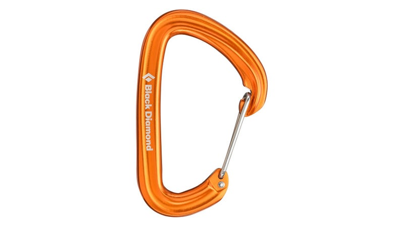 A basic but strength-rated climbing carabiner like this Black Diamond Hotwire lets you securely attach your dog to a tree, railing, or similar immovable object by simply wrapping the leash around it and clipping it together.
