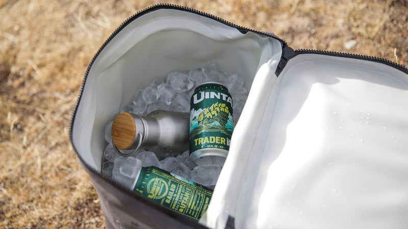 The 25-liter cooler backpack can keep a couple six packs cold for up to 48 hours.