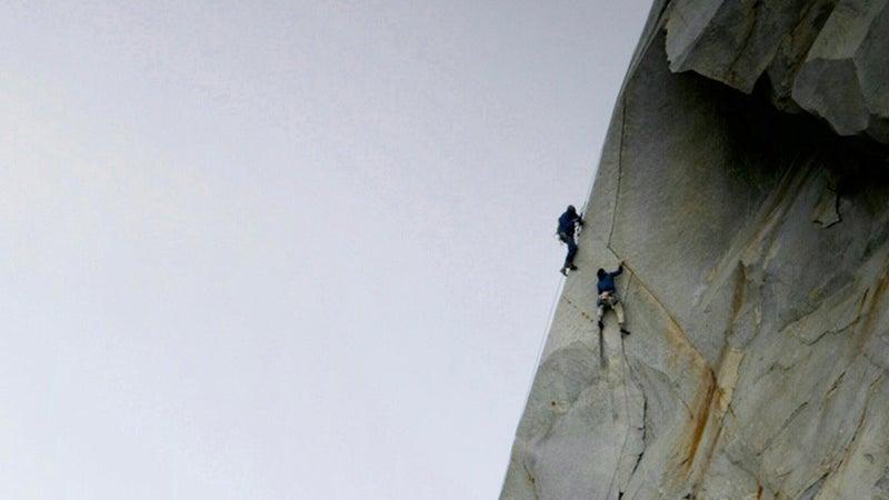 Aidan Haley films Josh Huckaby in the Sierra Nevada for Patagonia.