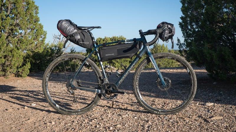 Blackburn's Seatpack and Drybag, Frame Bag, and Handlebar Roll and Drybag.