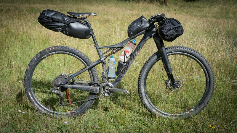 Specialized's Stabilizer Seatpack 10, Drypack 13, and Top Tube Pack 0.75.