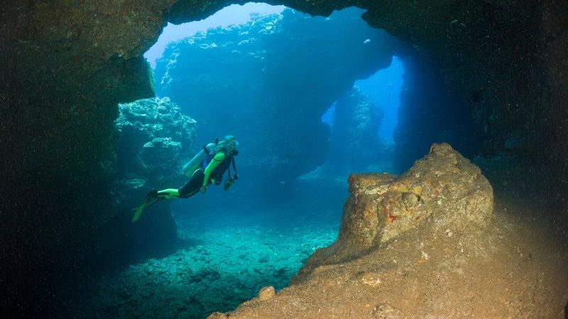 Caves of lava tubes on Lanai, Maui