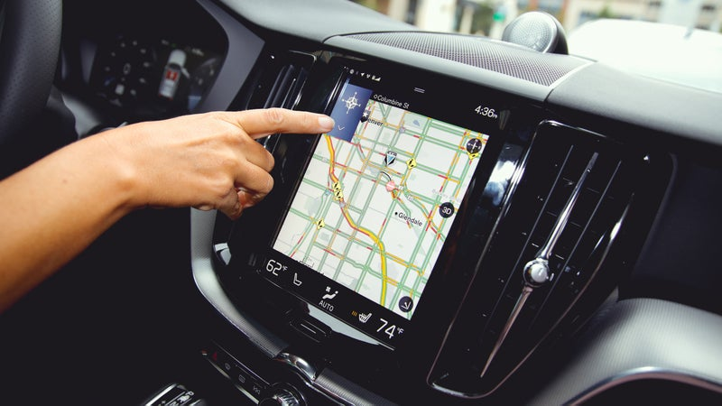 A large touchscreen acts as the focal point of the interior and allows Volvo to delete most of the XC60's physical buttons.