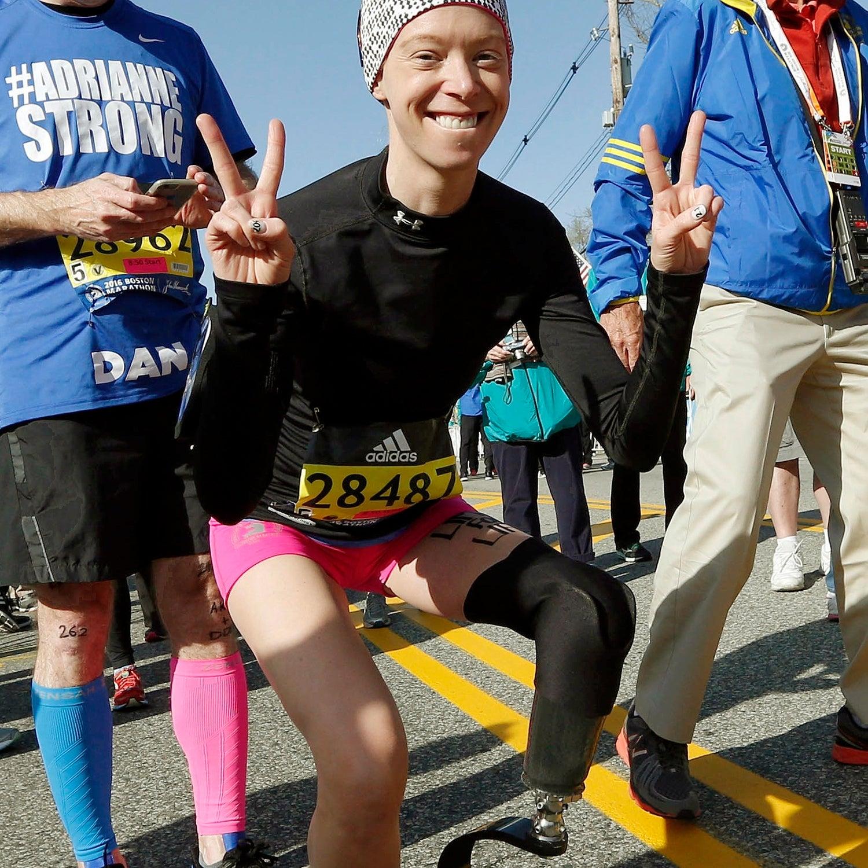 Bomb survivor Adrianne Haslet-Davis.