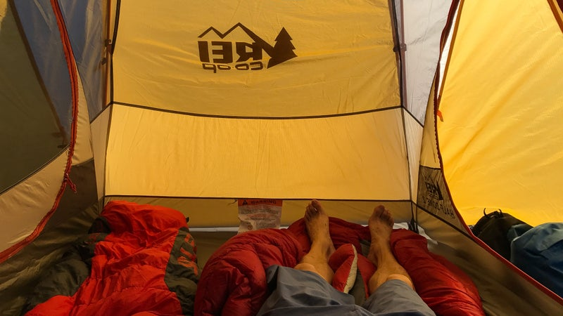 A good rule of thumb when choosing a tent: always size up.