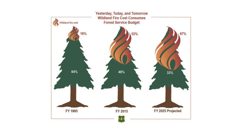 As the Forest Service spends more money fighting fires, it has less money to spend preventing them. As it has less money to spend preventing fires, it has to spend more money fighting them. Something has to change.