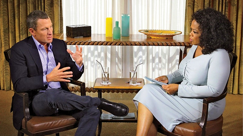 Armstrong's public confession to Oprah in 2013.