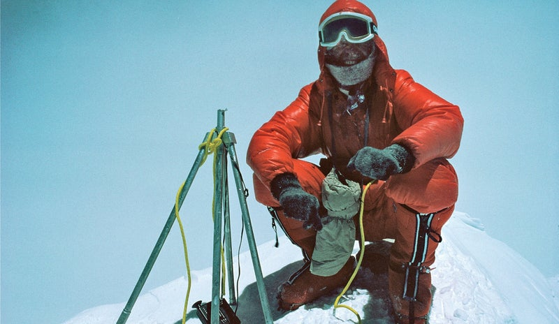 Messner on the summit of Everest, May 8, 1978.