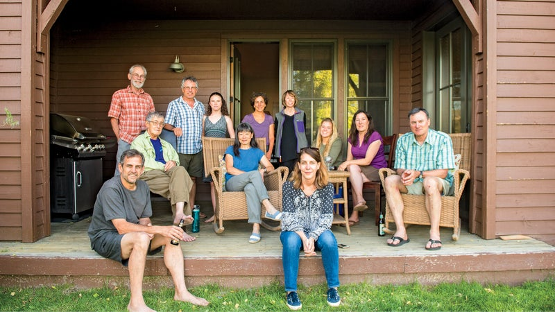 The gang is mostly here: the 2017 reunion in Mammoth Lakes.