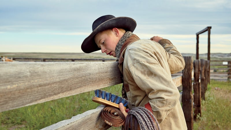 Galloping across the open plains of Wyoming? You want 16-year-old cowboy Quirt Rice along.